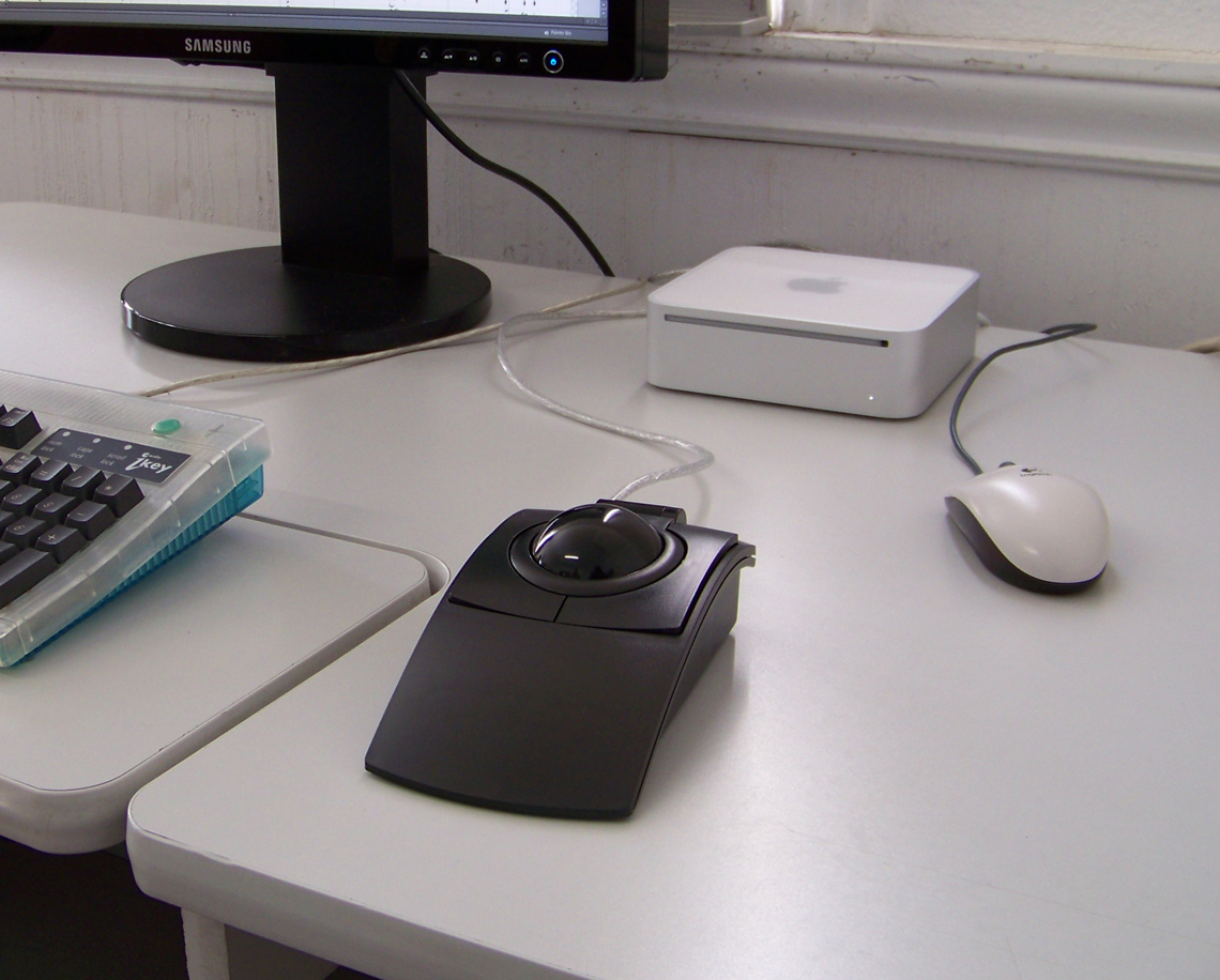 CST L-Trac Laser Trackball at desk
