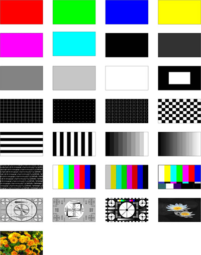 ODSG-01 Test Pattern Images