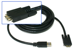 Newnex SuperSpeed USB 3.0 A to Micro B w/Locking Screws Cable, 3m/10ft (US2-AMCBI1-3M)