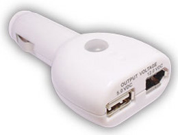 USB/FireWire Plug-In Car Charger